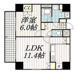 千葉本町スカイマンション[7階]の間取り