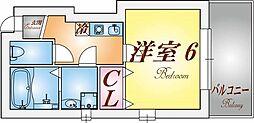 兵庫県神戸市長田区御蔵通1丁目の賃貸アパートの間取り