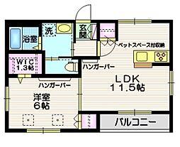 JR常磐線 南千住駅 徒歩17分の賃貸マンション 3階1LDKの間取り