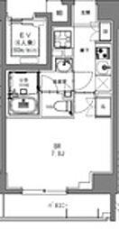 JR総武本線 馬喰町駅 徒歩2分の賃貸マンション 8階1Kの間取り