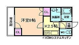 [一戸建] 大阪府池田市栄町 の賃貸【/】の間取り