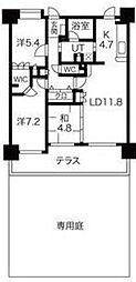 コアマンションルネス箱崎[1階]の間取り