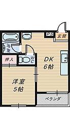 グランデ堺東[2階]の間取り