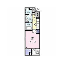 京王相模原線 京王堀之内駅 徒歩13分の賃貸マンション 5階1Kの間取り