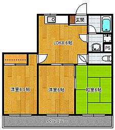 テゾーロ博多南[2階]の間取り