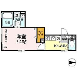 Maison de la pomme[2階]の間取り