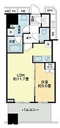 武蔵野タワーズ スカイクロスタワー 6階1LDKの間取り