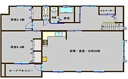 京王線 東府中駅 徒歩7分の賃貸アパート 3階2LDKの間取り