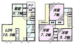 [一戸建] 東京都八王子市子安町2丁目 の賃貸【/】の間取り