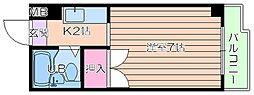 大阪府大阪市北区長柄中2丁目の賃貸マンションの間取り