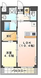 Osaka Metro御堂筋線 新金岡駅 徒歩12分の賃貸マンション 1階1LDKの間取り