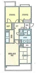 アルカディア茅ヶ崎[306号室]の間取り