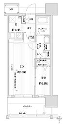 福岡市地下鉄空港線 赤坂駅 徒歩9分の賃貸マンション 5階1LDKの間取り