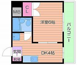 サンライズマンション/[4階]の間取り