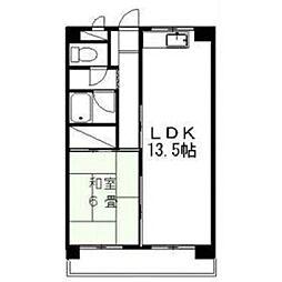 南福岡SSマンション[203号室]の間取り