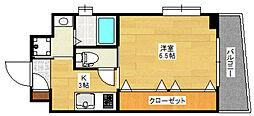 コスモス御笠川[8階]の間取り