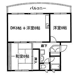 ウンノマンション[407号室]の間取り