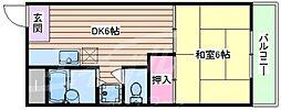 エクセル山田別館[4階]の間取り