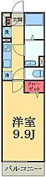 千葉県千葉市中央区蘇我1丁目の賃貸アパートの間取り