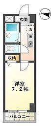 愛知県豊田市豊栄町5丁目の賃貸マンションの間取り