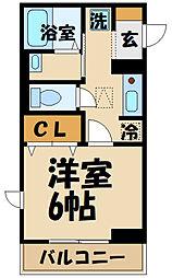 Confort yuuya 1階1Kの間取り