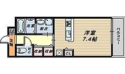 プラージュ堺[4階]の間取り