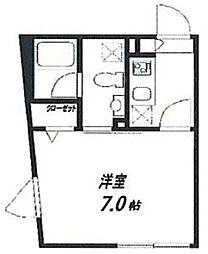 Fullea武蔵小山 1階1Kの間取り