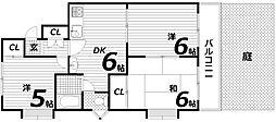 ビラ名谷C棟[1階]の間取り