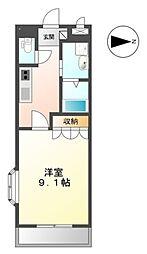 名鉄三河線 平戸橋駅 徒歩11分の賃貸アパート 2階1Kの間取り