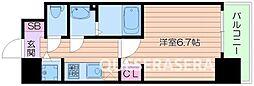Osaka Metro谷町線 阿倍野駅 徒歩9分の賃貸マンション 3階1Kの間取り