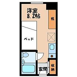 栃木県宇都宮市河原町の賃貸マンションの間取り