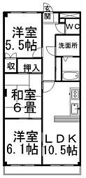 ピュアINN21[1階]の間取り