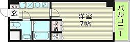 ラフォーレ都島本通1 5階1Kの間取り