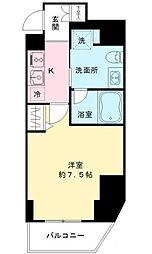 東京都千代田区一番町の賃貸マンションの間取り