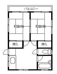 ハイツカネコ[2階]の間取り