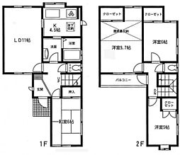 [テラスハウス] 神奈川県横浜市青葉区美しが丘西3丁目 の賃貸【/】の間取り