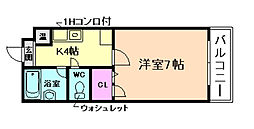 メゾンウッディII[2階]の間取り