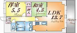 ロイヤル神戸池田広町[2階]の間取り