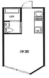 LAPiS原宿I 4階ワンルームの間取り