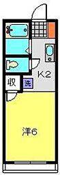 神奈川県横浜市港南区最戸2丁目の賃貸アパートの間取り