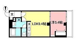 StarHills吉祥寺 3階1LDKの間取り