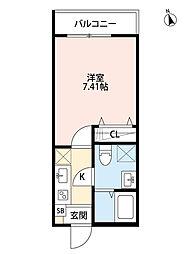ファミーユ[3階]の間取り