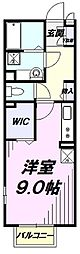 JR南武線 矢川駅 徒歩4分の賃貸アパート 1階ワンルームの間取り