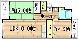山義第2ビル[109号室]の間取り