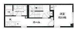 東京メトロ有楽町線 新富町駅 徒歩3分の賃貸マンション 4階1Kの間取り