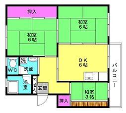 東加古川ファミリーマンション102号棟[3F号室]の間取り