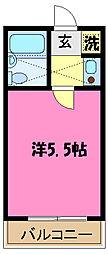 ロイヤル与野[1階]の間取り