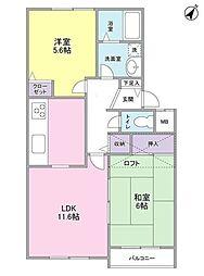 メイプルコート江田[2階]の間取り