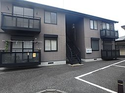 茨城県筑西市乙の賃貸アパートの外観