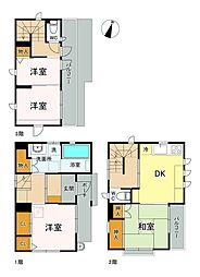 渋谷区本町2丁目戸建て 1階4DKの間取り
